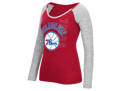 Philadelphia 76ers adidas NBA Women's Team Liquid Dots Long Sleeve T-Shirt