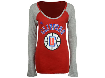 Los Angeles Clippers adidas NBA Women's Team Liquid Dots Long Sleeve T-Shirt