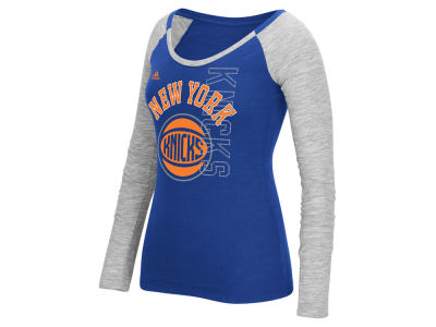 New York Knicks adidas NBA Women's Team Liquid Dots Long Sleeve T-Shirt