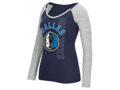 Dallas Mavericks adidas NBA Women's Team Liquid Dots Long Sleeve T-Shirt