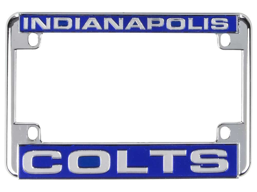 Indianapolis Colts NFL Motorcycle License Plate Frame | lids.com