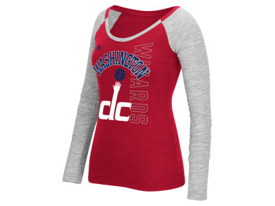 Washington Wizards adidas NBA Women's Team Liquid Dots Long Sleeve T-Shirt