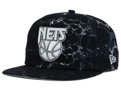 New Jersey Nets New Era NBA HWC Marble Mix A-Frame Original Fit 9FIFTY Snapback Cap