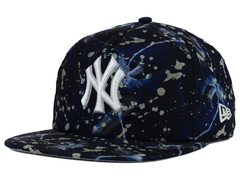 0405ef98cae New York Yankees New Era MLB Glow Speck A-Frame Original Fit 9FIFTY Snapback  Cap