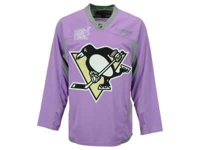 Pittsburgh Penguins Reebok NHL Men's Hockey Fights Cancer Practice Jersey