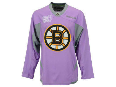 Boston Bruins Reebok NHL Men's Hockey Fights Cancer Practice Jersey
