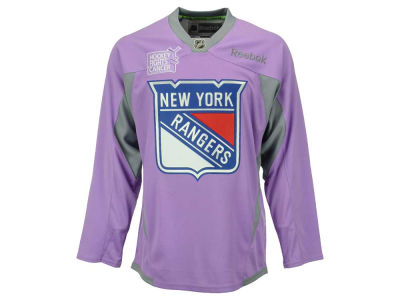 New York Rangers Reebok NHL Men's Hockey Fights Cancer Practice Jersey
