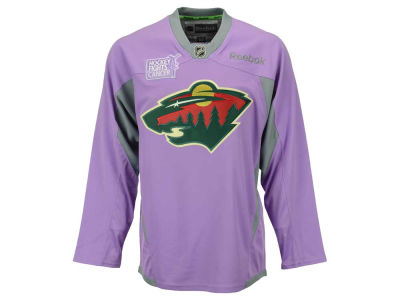 Minnesota Wild Reebok NHL Men's Hockey Fights Cancer Practice Jersey