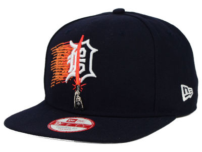 Detroit Tigers New Era SW X MLB Logoswipe 9FIFTY Original Fit Snapback Cap
