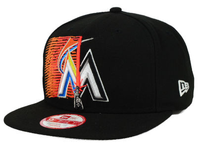 Miami Marlins New Era SW X MLB Logoswipe 9FIFTY Original Fit Snapback Cap