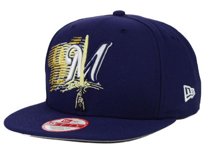 Milwaukee Brewers New Era SW X MLB Logoswipe 9FIFTY Original Fit Snapback Cap