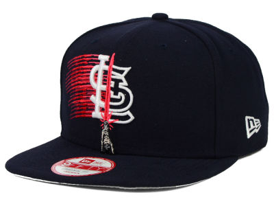 St. Louis Cardinals New Era SW X MLB Logoswipe 9FIFTY Original Fit Snapback Cap