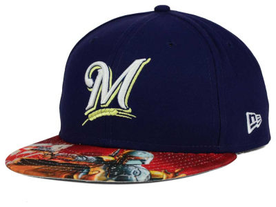 Milwaukee Brewers New Era MLB x Star Wars Viza Print 59FIFTY Cap