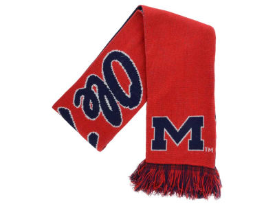 Ole Miss Rebels Acrylic Knit Scarf Reversible Split Logo