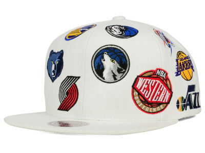 NBA All Star Mitchell and Ness NBA All Over Snapback Hat