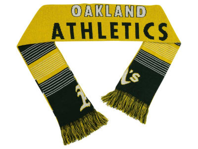 Oakland Athletics Acrylic Knit Scarf Reversible Split Logo