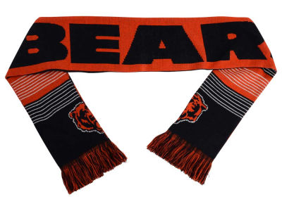 Chicago Bears Acrylic Knit Scarf Reversible Split Logo