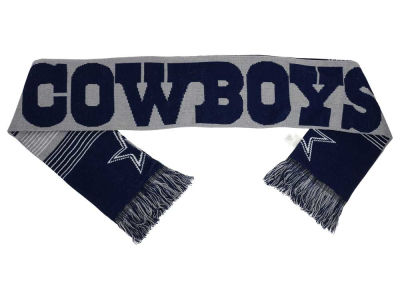 Dallas Cowboys Acrylic Knit Scarf Reversible Split Logo