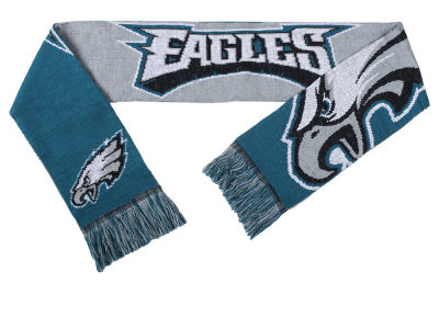 Philadelphia Eagles Acrylic Knit Scarf Reversible Split Logo