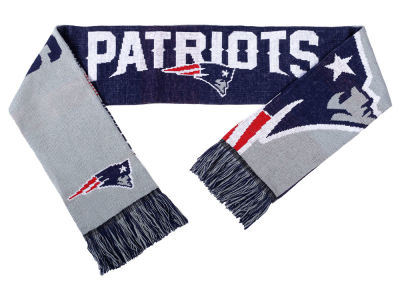 New England Patriots Acrylic Knit Scarf Reversible Split Logo