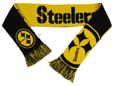 Pittsburgh Steelers Acrylic Knit Scarf Reversible Split Logo