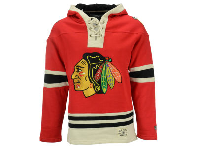 Chicago Blackhawks Old Time Hockey NHL Men's Lacer Hoodie