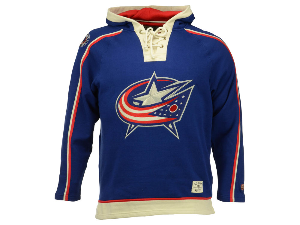 Columbus Blue Jackets Old Time Hockey NHL Men s Lacer Hoodie  e5926b391