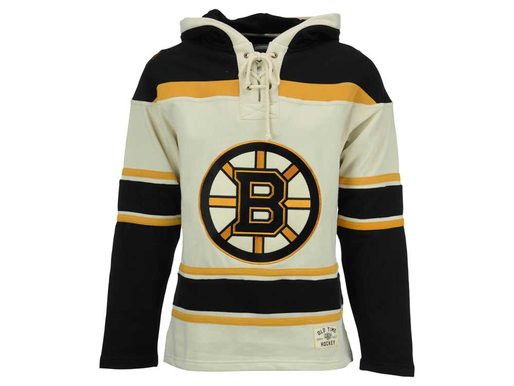 Boston Bruins Old Time Hockey NHL Men s SMU Lacer Hoodie  7a97e3271e6