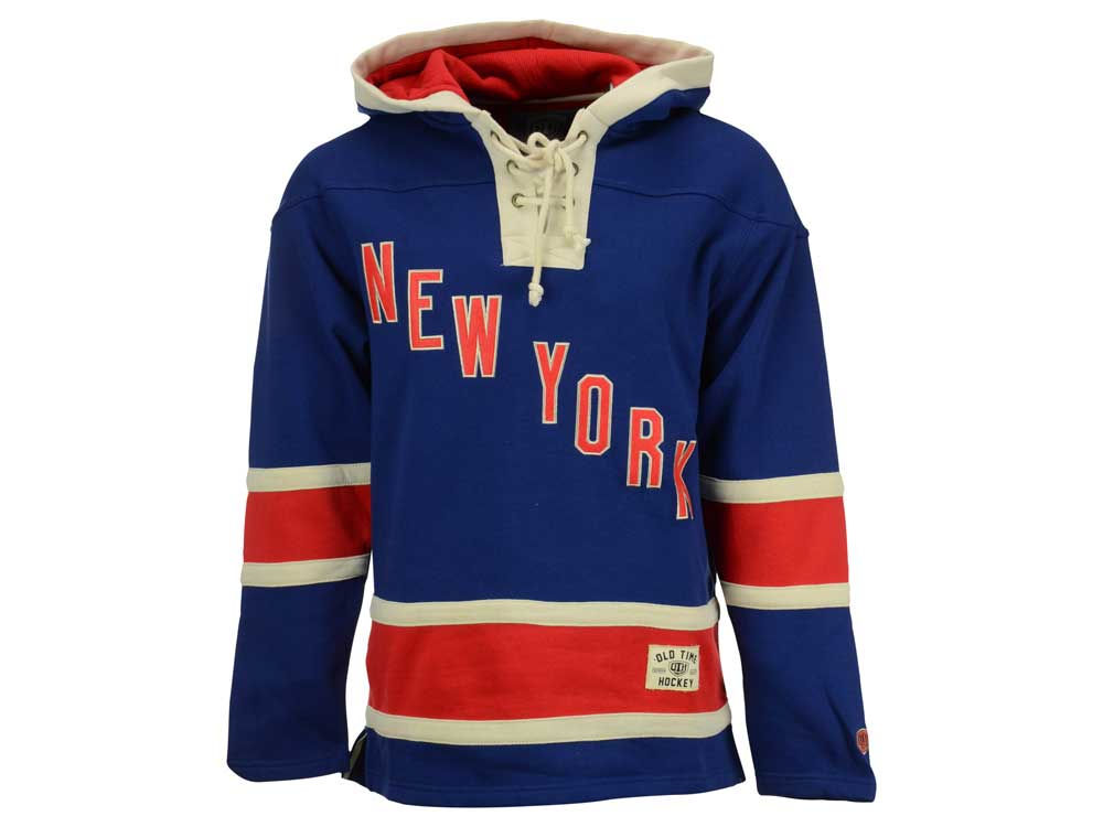 New York Rangers Old Time Hockey NHL Men s SMU Lacer Hoodie  641ed5d944b