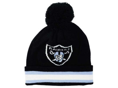 Oakland Raiders Outerstuff NFL Toddler Cuff Pom Knit