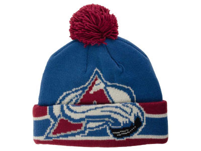 Colorado Avalanche Reebok NHL CCM Oversized Logo Cuffed Pom Knit