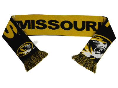 Missouri Tigers Acrylic Knit Scarf Reversible Split Logo