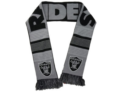 Oakland Raiders Acrylic Knit Scarf Reversible Split Logo