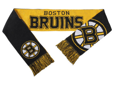 Boston Bruins Acrylic Knit Scarf Reversible Split Logo