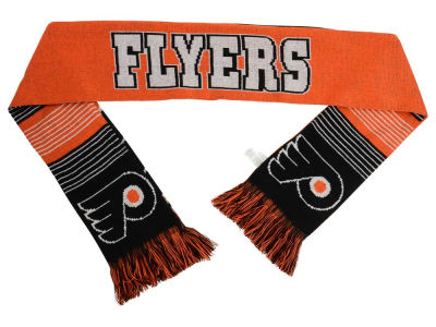 Philadelphia Flyers Acrylic Knit Scarf Reversible Split Logo