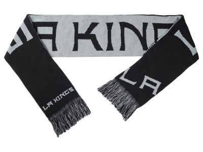 Los Angeles Kings Acrylic Knit Scarf Reversible Split Logo