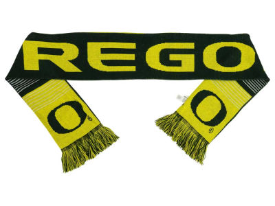 Oregon Ducks Acrylic Knit Scarf Reversible Split Logo