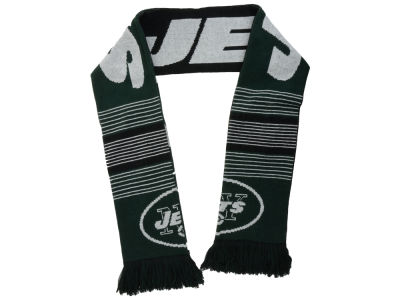New York Jets Acrylic Knit Scarf Reversible Split Logo