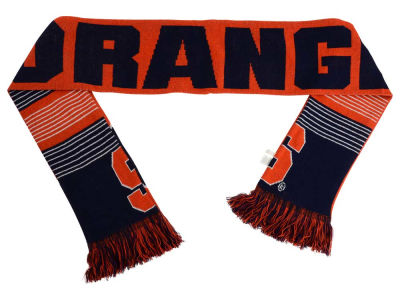 Syracuse Orange Acrylic Knit Scarf Reversible Split Logo