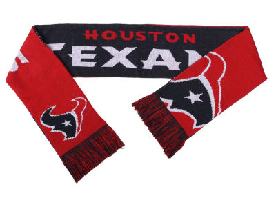 Houston Texans Acrylic Knit Scarf Reversible Split Logo