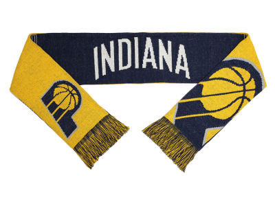 Indiana Pacers Acrylic Knit Scarf Reversible Split Logo