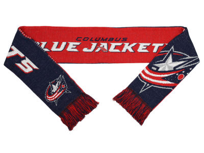 Columbus Blue Jackets Acrylic Knit Scarf Reversible Split Logo