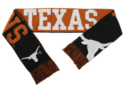 Texas Longhorns Acrylic Knit Scarf Reversible Split Logo
