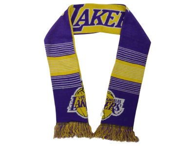 Los Angeles Lakers Acrylic Knit Scarf Reversible Split Logo