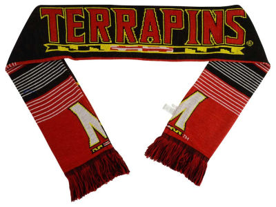 Maryland Terrapins Acrylic Knit Scarf Reversible Split Logo