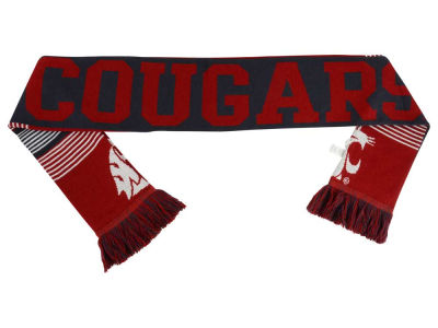Washington State Cougars Acrylic Knit Scarf Reversible Split Logo