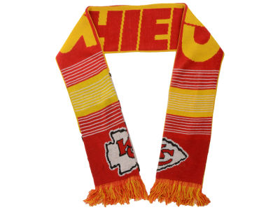 Kansas City Chiefs Acrylic Knit Scarf Reversible Split Logo