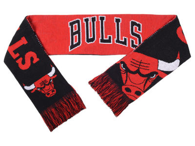 Chicago Bulls Acrylic Knit Scarf Reversible Split Logo