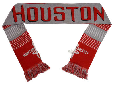 Houston Rockets Acrylic Knit Scarf Reversible Split Logo