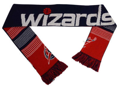 Washington Wizards Acrylic Knit Scarf Reversible Split Logo